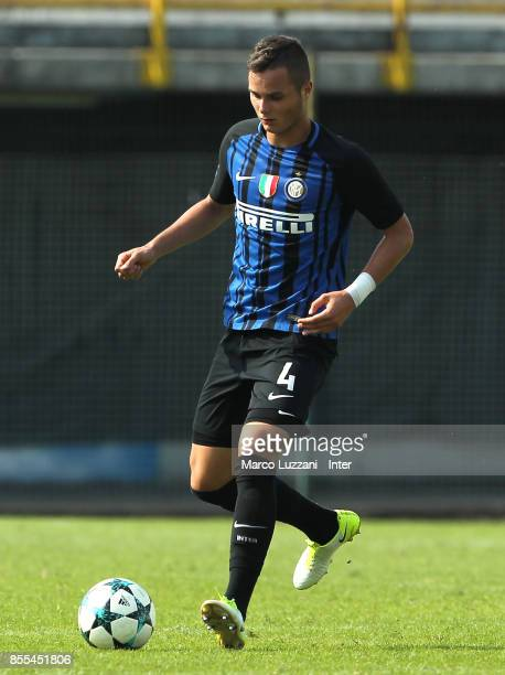 Zinho Vanheusden of FC Internazionale in action during the UEFA Youth League Domestic Champions Path match between FC Internazionale and Dynamo Kiev...