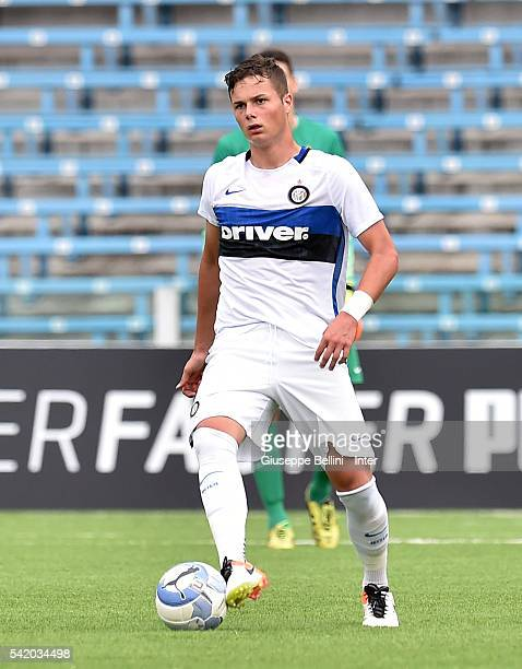 Zinho Vanheusden Of Fc Internazionale Milano In Action During Serie A U Finals Between Fc Internazionale