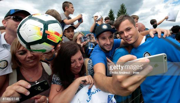 Zinho Vanheusden of FC Internazionale Milano visits the Inter Village after the FC Internazionale training session on July 14 2017 in Reischach near...