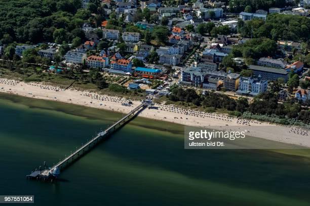 Zinnowitz, Island of Usedom, Mecklenburg-Western Pomerania, Germany, aerial view, May 27, 2017