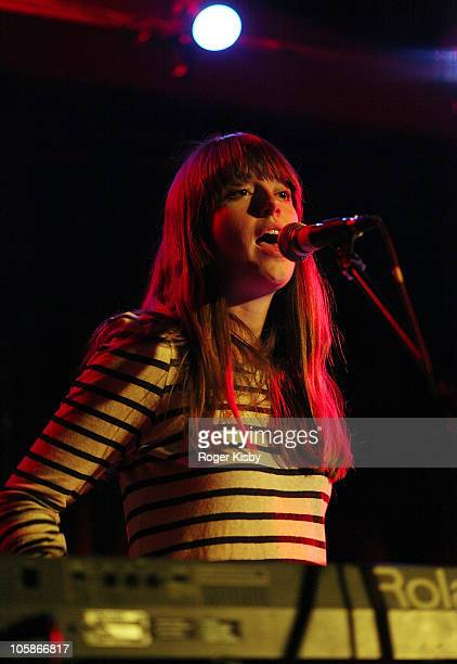 Zinzi Edmundson of Kisses performs onstage as part of 2010 CMJ Music Marathon at Public Assembly on October 20 2010 in the Brooklyn borough of New...