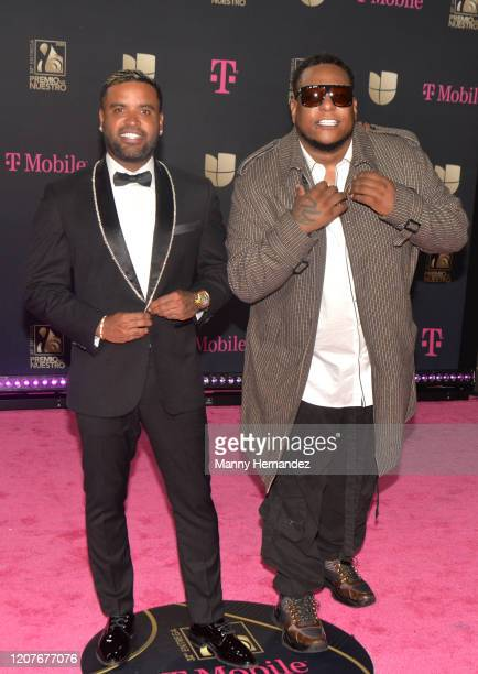Zion and Lennox attends Univision's Premio Lo Nuestro 2020 at AmericanAirlines Arena on February 20 2020 in Miami Florida