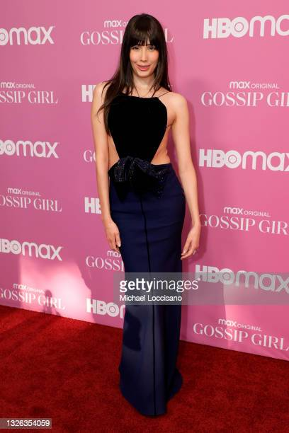 """Zion Moreno attends the """"Gossip Girl"""" New York Premiere at Spring Studios on June 30, 2021 in New York City."""