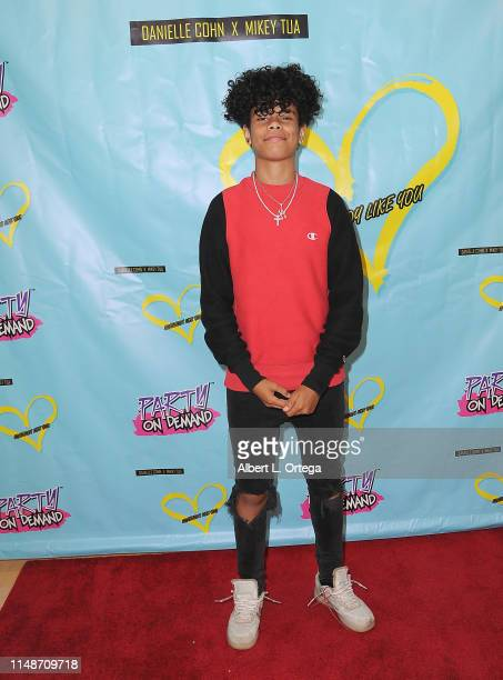 Zion Sapong attends the Release Party For Dani Cohn And Mikey Tua's Song Somebody Like You held at The Industry Loft on June 8 2019 in Los Angeles...