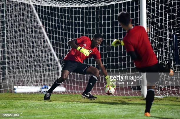 Zion Suzuki in action during Japan training session ahead of the FIFA U-17 World Cup India 2017 tournament on October 7, 2017 in Guwahati, India.