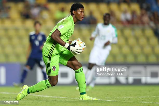 Zion Suzuki of Japan makes a save during the FIFA U-17 World Cup Brazil 2019 group D match between Senegal and Japan at Estádio Kléber Andrade on...