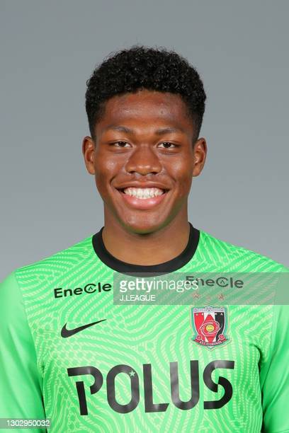 Zion Suzuki poses during the Urawa Red Diamonds portrait session on January 28, 2021 in Japan.