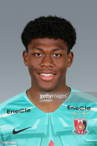 Zion Suzuki poses for photographs during the Urawa Red Diamonds portrait session on January 19, 2020 in Japan.