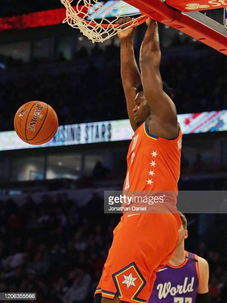 Zion Williamson of the USA dunks against the World team at the United Center on February 14 2020 in Chicago Illinois NOTE TO USER User expressly...