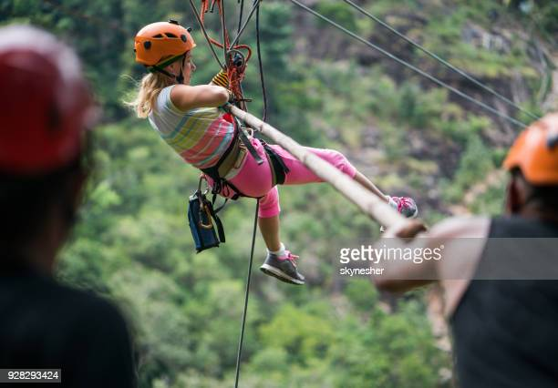 Zip lining rescue in the forest!