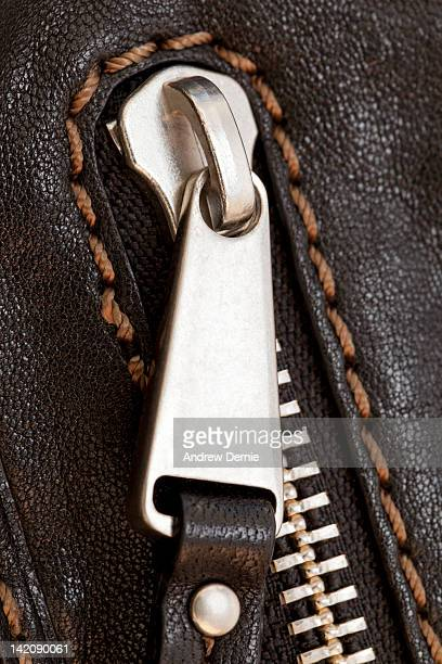 Zip with Leather Detail