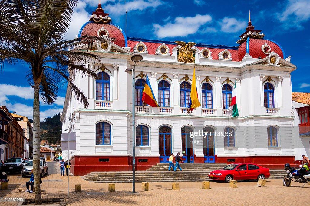 Zipaquira City Hall in Bogota, Colombia : Stock Photo