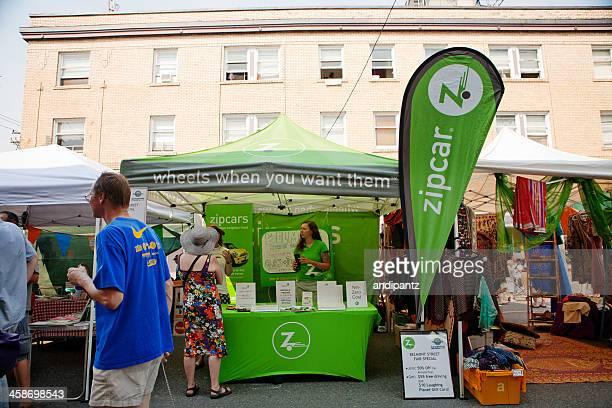 Zipcar booth in street fair