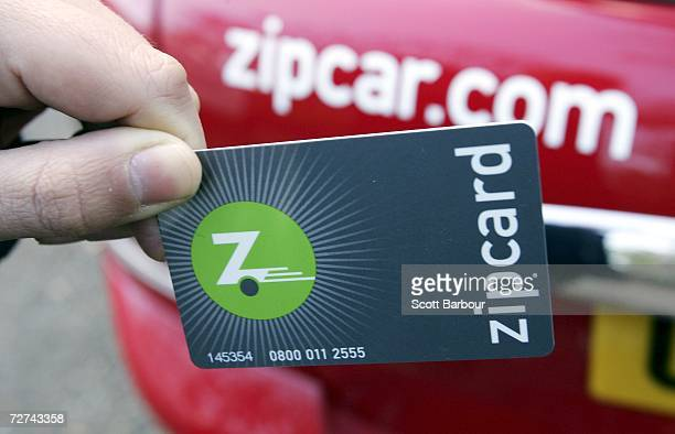 Zipcard is used to gain entrance to a Zipcar on December 6 2006 in London England With 80000 consumer and business drivers around the world Zipcar is...