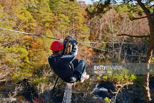 Ziplining over Carver's Falls