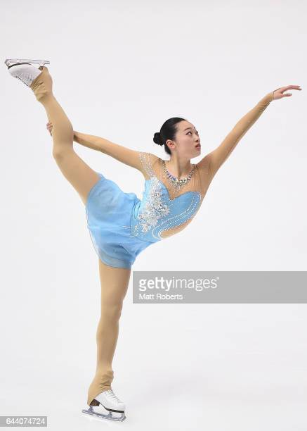 Ziquan Zhao of China competes in the women's short program figure skating on day six of the 2017 Sapporo Asian Winter Games at Makomanai Indoor...