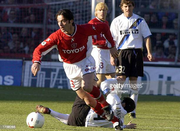 Zisis Vryzas of Perugia in action during the Serie A match between Perugia and Inter Milan, played at the Renato Curi Stadium, Perugia,Italy on...