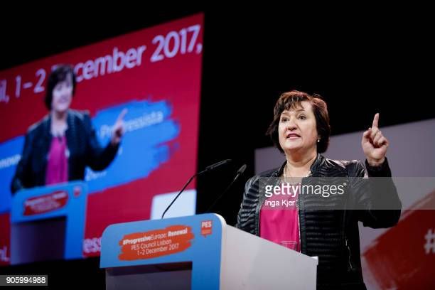 Zita Gurmai President of PES Woman in the course of the PES party congress on December 01 2017 in Lisbon Portugal