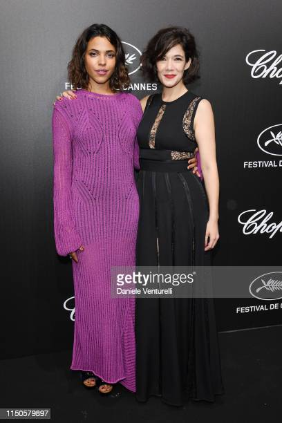 Zita Hanrot and Melanie Doutey attend the The Chopard Trophy event during the 72nd annual Cannes Film Festival on May 20 2019 in Cannes France