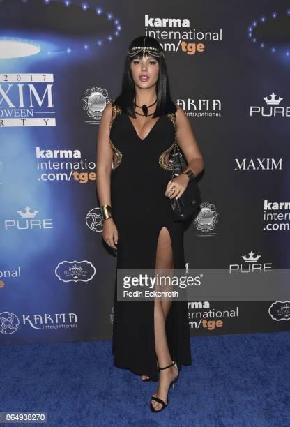 Zita Vass arrives at the 2017 MAXIM Halloween Party at LA Center Studios on October 21, 2017 in Los Angeles, California.