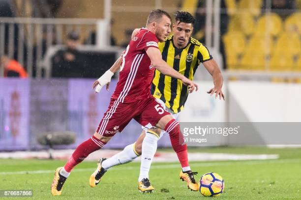 Ziya Erdal of Demir Grup Sivasspor Nabil Dirar of Fenerbahce SK during the Turkish Spor Toto Super Lig football match between Fenerbahce and Demir...