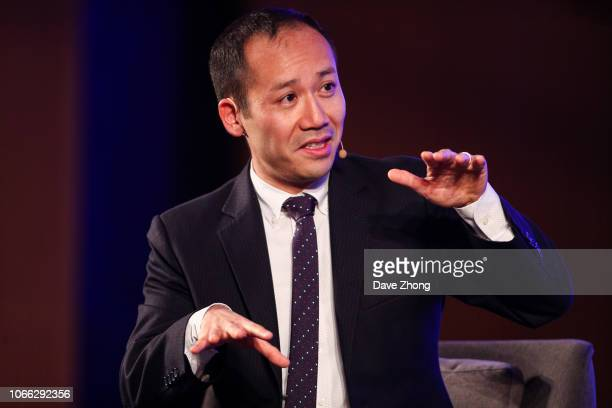 Ziyang Fan, Head of Digital Trade of World Economic Forum, speaks during Fireside Chat on Day 3 of CNBC East Tech West at LN Garden Hotel Nansha...