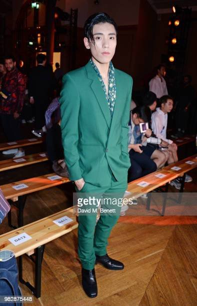 Ziyi Wang wearing Paul Smith attends the Paul Smith SS19 Menswear Show during Paris Fashion Week at Elysee Montmartre on June 24 2018 in Paris France