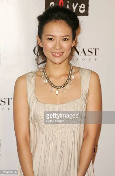 Ziyi Zhang attends The Black Ball presented by Conde Nast Media Group and hosted by Alicia Keys and Iman to benefit Keep A Child Alive at Hammerstein...
