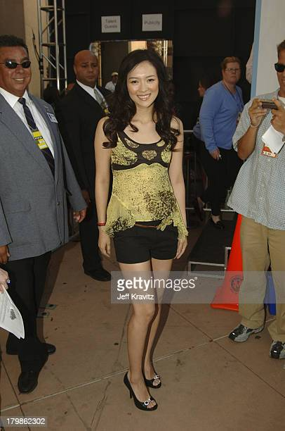 Ziyi Zhang during 2005 MTV Movie Awards Red Carpet at Shrine Auditorium in Los Angeles California United States