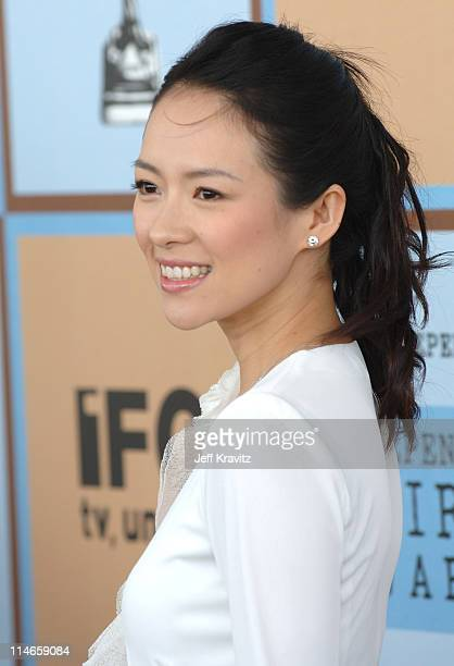 Ziyi Zhang during Film Independent's 2006 Independent Spirit Awards Arrivals in Santa Monica California United States
