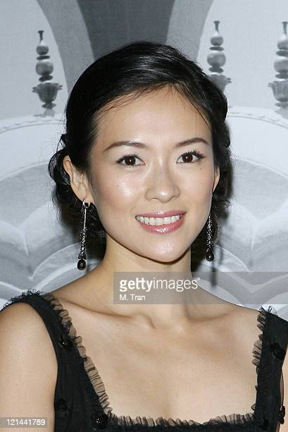 Ziyi Zhang during Giorgio Armani Celebrates 2007 Oscars with Exclusive Prive Show at Green Acres Estates in Beverly Hills California United States