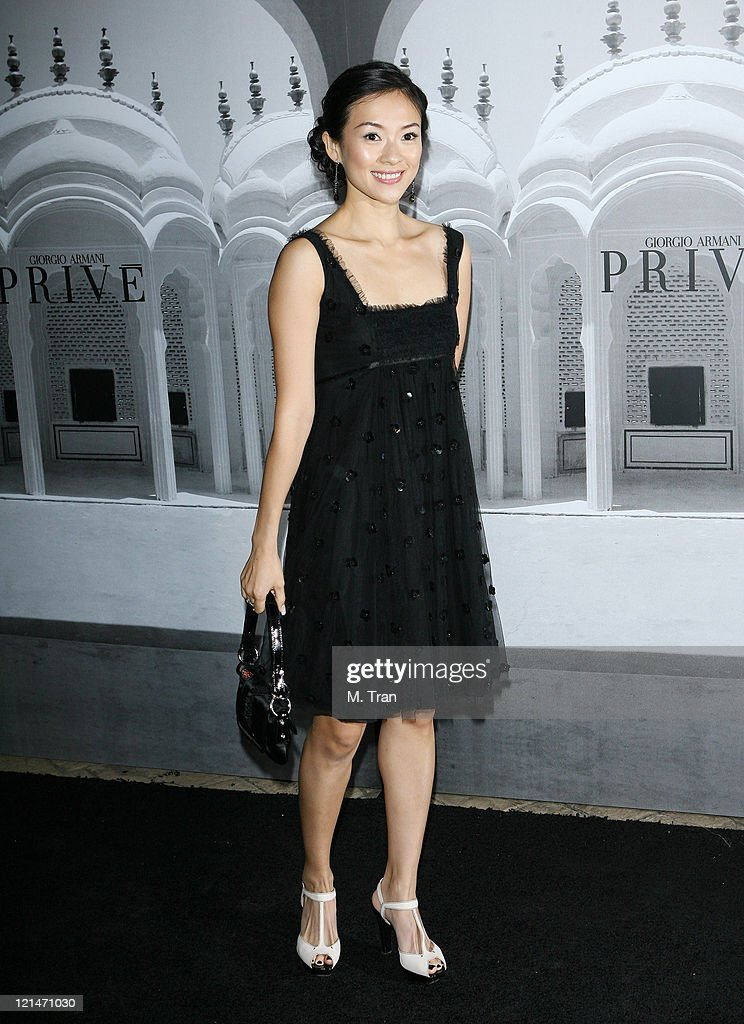 Ziyi Zhang during Giorgio Armani Celebrates 2007 Oscars with Exclusive Prive Show at Green Acres Estates in Beverly Hills, California, United States.