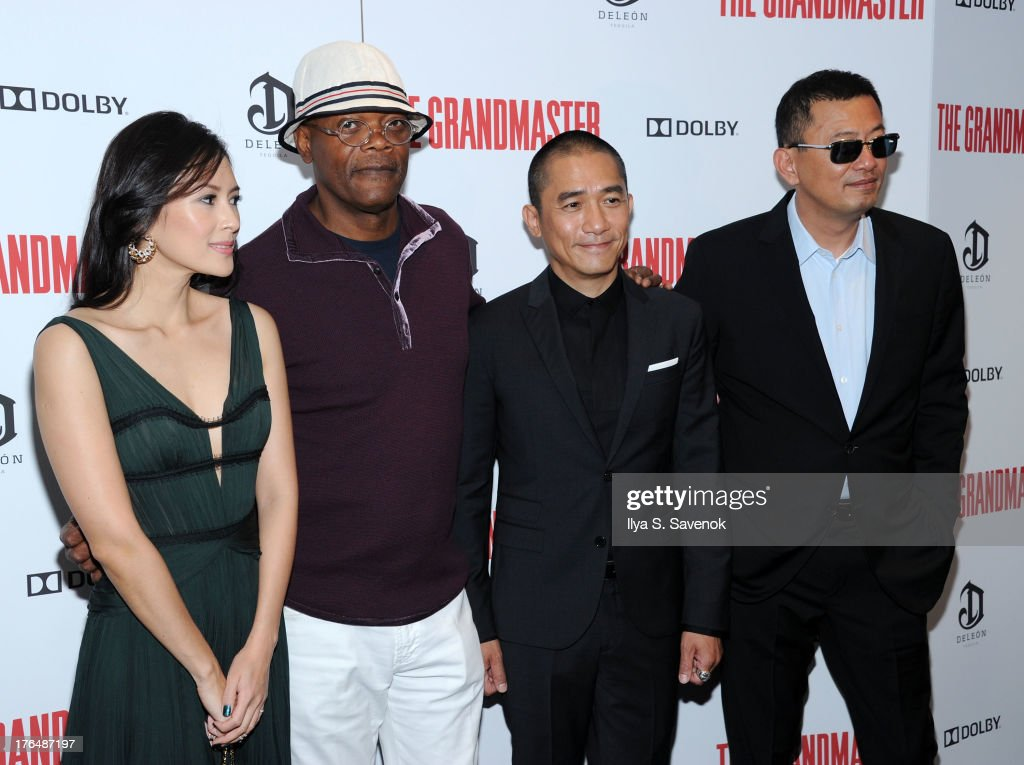Ziyi Zhang, Samuel L. Jackson, Tony Leung, and Wong Kar Wai attend 'The Grandmaster' New York Screening at Regal E-Walk Stadium 13 on August 13, 2013 in New York City.