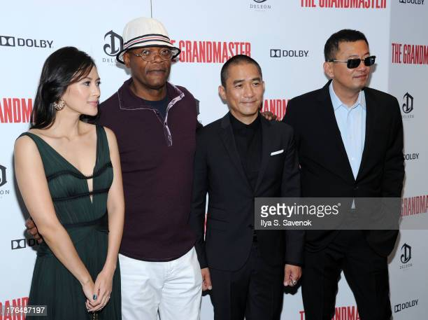 Ziyi Zhang Samuel L Jackson Tony Leung and Wong Kar Wai attend 'The Grandmaster' New York Screening at Regal EWalk Stadium 13 on August 13 2013 in...