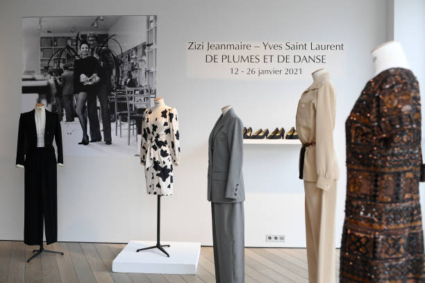 FRA: Christie's Presents Zizi Jeanmaire's Yves Saint Laurent Wardrobe In Paris