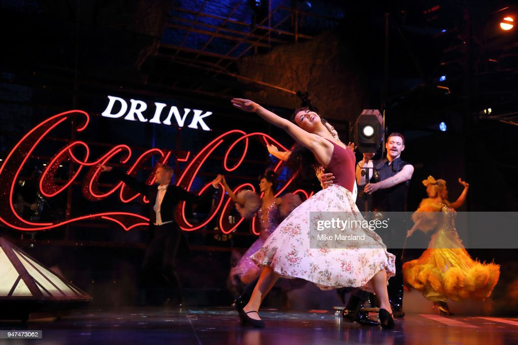 Zizi Strallen and Jonny Labey during a photocall for 'Strictly Ballroom The Musical' at Piccadilly Theatre on April 17, 2018 in London, England.