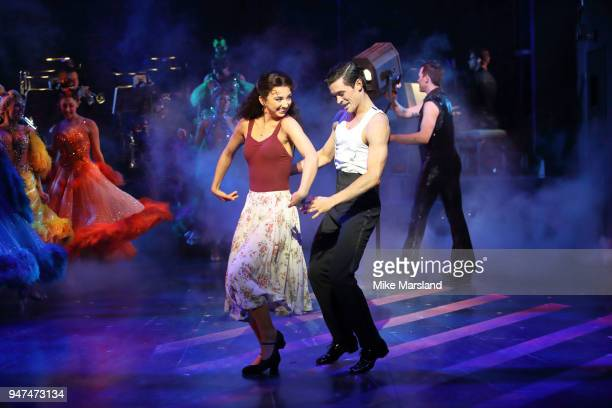 Zizi Strallen and Jonny Labey during a photocall for 'Strictly Ballroom The Musical' at Piccadilly Theatre on April 17 2018 in London England