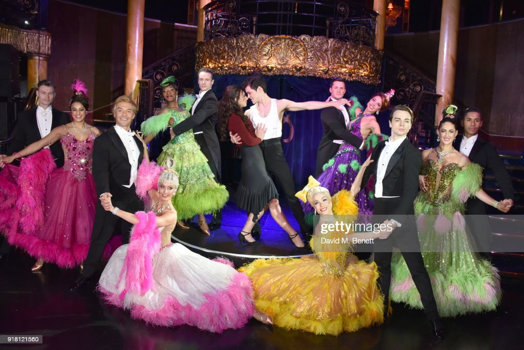 Zizi Strallen, Jonny Labey (C) pose at a photocall for 'Strictly Ballroom The Musical' at Cafe de Paris on February 14, 2018 in London, England.