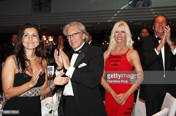 Özlan Schäfer and Bernd Herzsprung and Gunilla Gräfin Von Bismarck at the UNESCO Charity Gala at the Maritim Hotel in Dusseldorf
