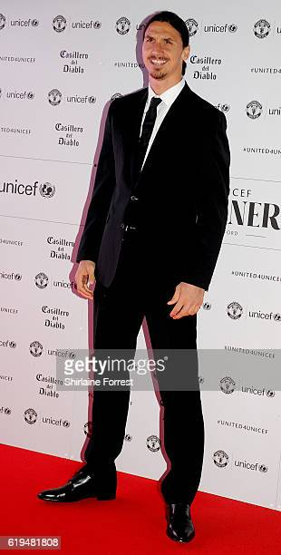 Zlatan Ibrahimovic attends the United for Unicef gala dinner at Old Trafford on October 31, 2016 in Manchester, England.