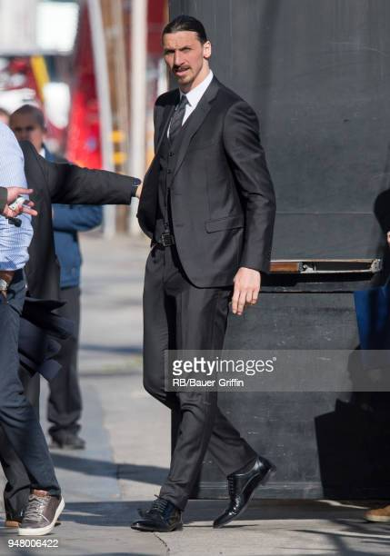 Zlatan Ibrahimovic is seen at 'Jimmy Kimmel Live' on April 17 2018 in Los Angeles California