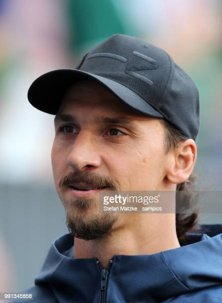 Zlatan Ibrahimovic od Sweden during the 2018 FIFA World Cup Russia group F match between Germany and Mexico at Luzhniki Stadium on June 17 2018 in...
