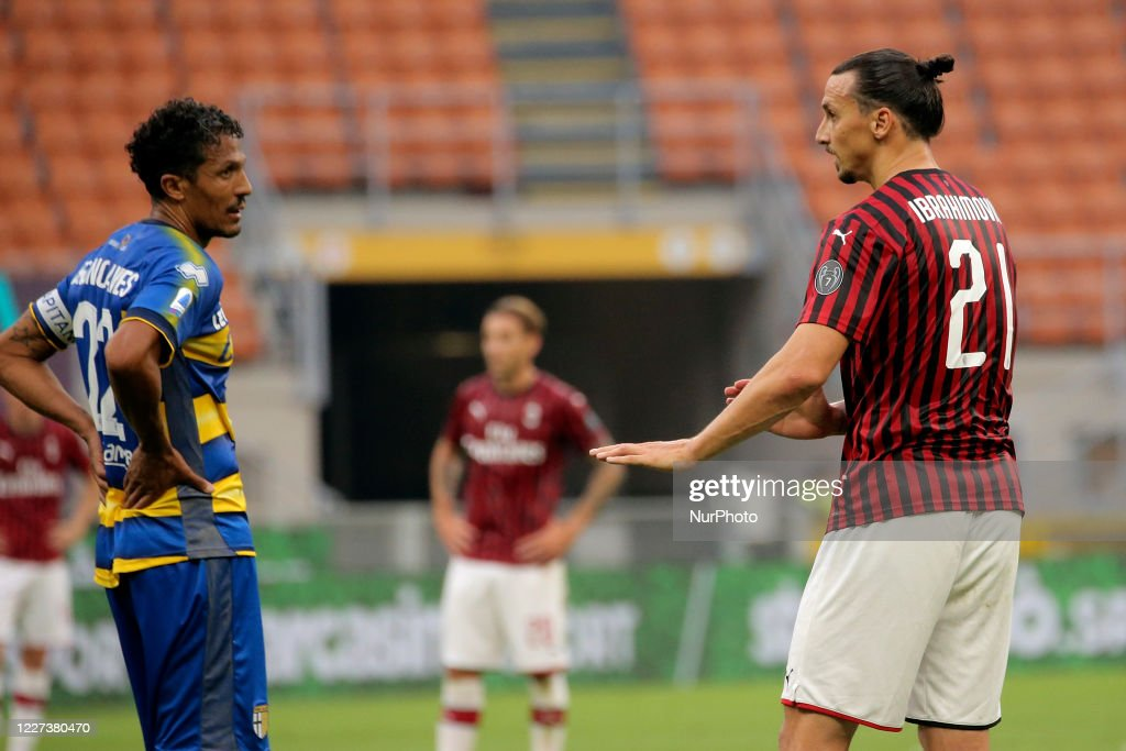 Zlatan Ibrahimovic Of Ac Milan And Bruno Alves Of Parma Calcio During News Photo Getty Images