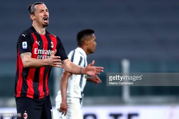 Zlatan Ibrahimovic of Ac Milan despairs during the Serie A match between Juventus Fc and Ac Milan. Ac Milan wins 3-0 over Juventus Fc.