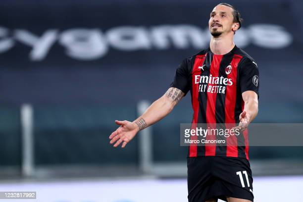 Zlatan Ibrahimovic of Ac Milan disappointed during the Serie A match between Juventus Fc and Ac Milan. Ac Milan wins 3-0 over Juventus Fc.