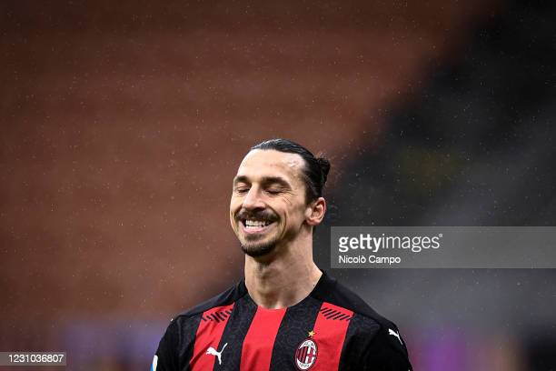 Zlatan Ibrahimovic of AC Milan looks dejected during the Serie A football match between AC Milan and FC Crotone. AC Milan won 4-0 over FC Crotone.