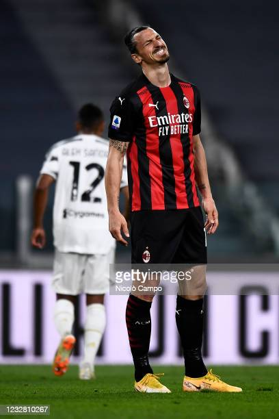 Zlatan Ibrahimovic of AC Milan looks dejected during the Serie A football match between Juventus FC and AC Milan. AC Milan won 3-0 over Juventus FC.
