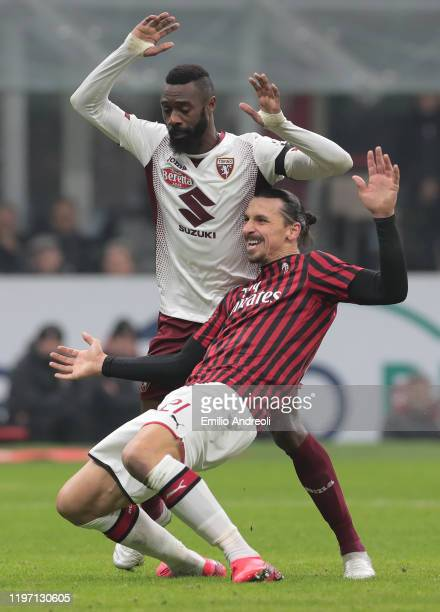 Zlatan Ibrahimovic of AC Milan scores his goal during the Coppa Italia Quarter Final match between AC Milan and Torino at San Siro on January 28 2020...
