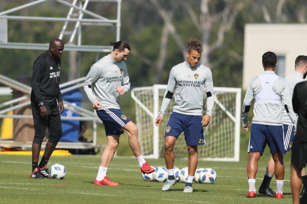 Image result for Zlatan Ibrahimovic training Los Angeles Galaxy