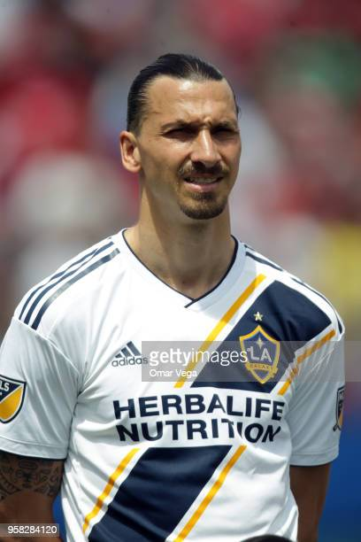 Zlatan Ibrahimovic of LA Galaxy poses prior to the Major Soccer League match between Dallas FC and LA Galaxy at Toyota Stadium on May 12 2018 in...